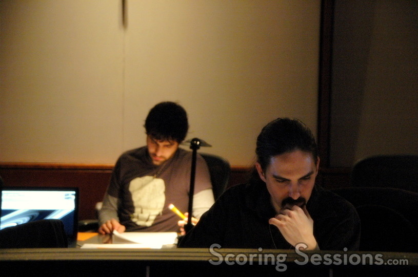 Assistant Brendan McCreary and composer Bear McCreary