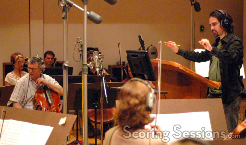 Bear McCreary conducts the strings