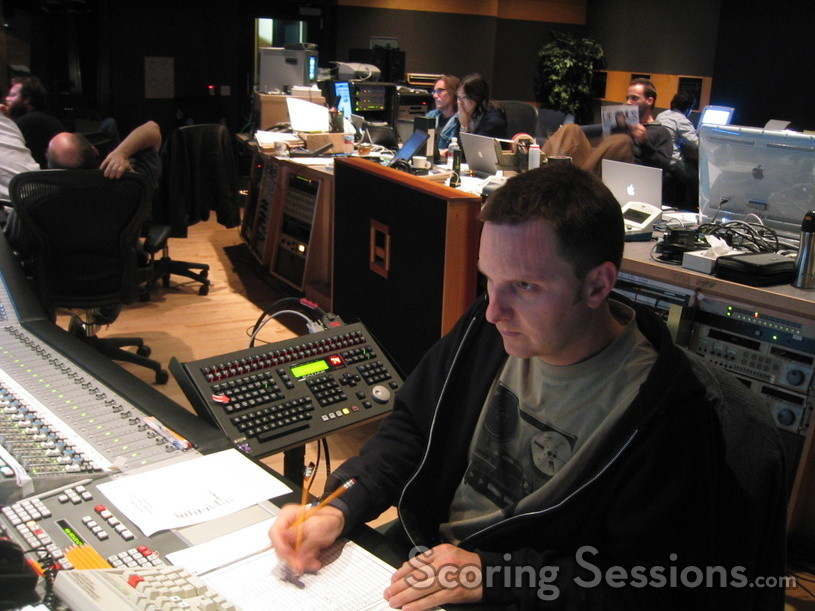 Stage recordist John Rodd concentrating hard