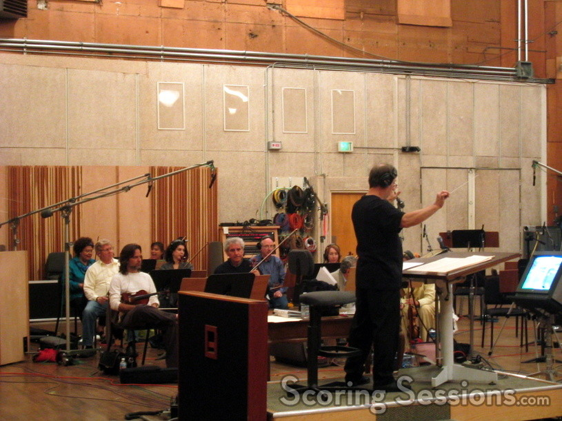 Ron Jones conducts the orchestra