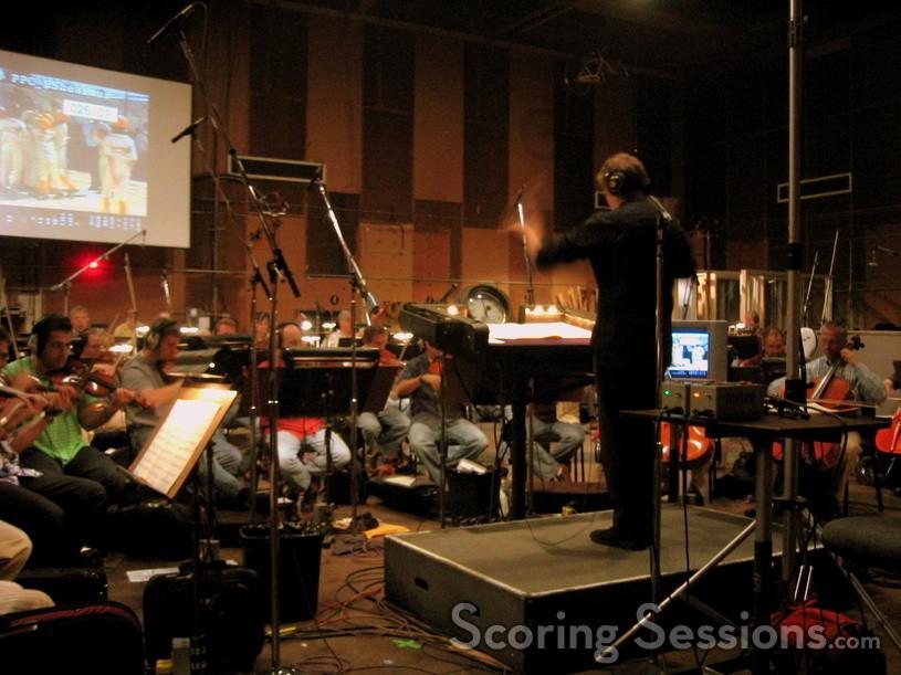 Ed Shearmur conducts the Hollywood Studio Symphony at Sony