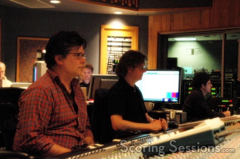 Director Steve Zaillian, music scoring mixer Simon Rhodes, and recordist Tom Hardisty