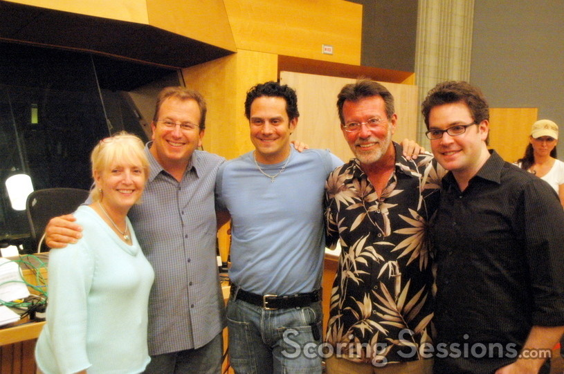 ASCAP Senior VP Nancy Knutsen, contractor Peter Rotter, Mike Todd, Richard Bellis, and ASCAP Workshop judge Ryan Shore