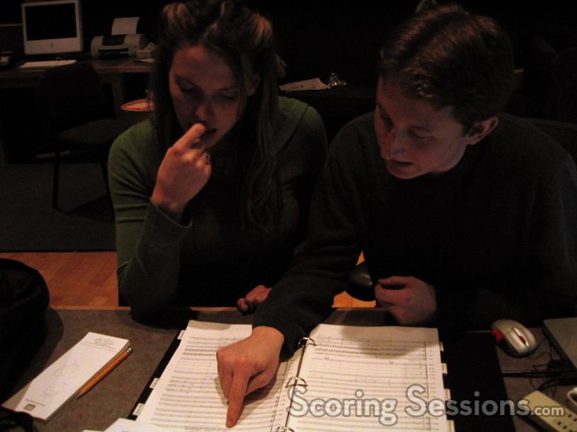 Andrea Datzman and Chad Seiter examine the score to <i>Black</i>