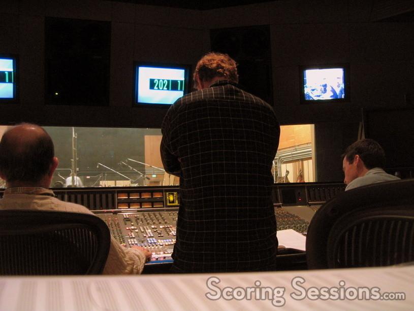 "Danny Elfman listens as the orchestra performs his ""Serenada Schizophrana"""