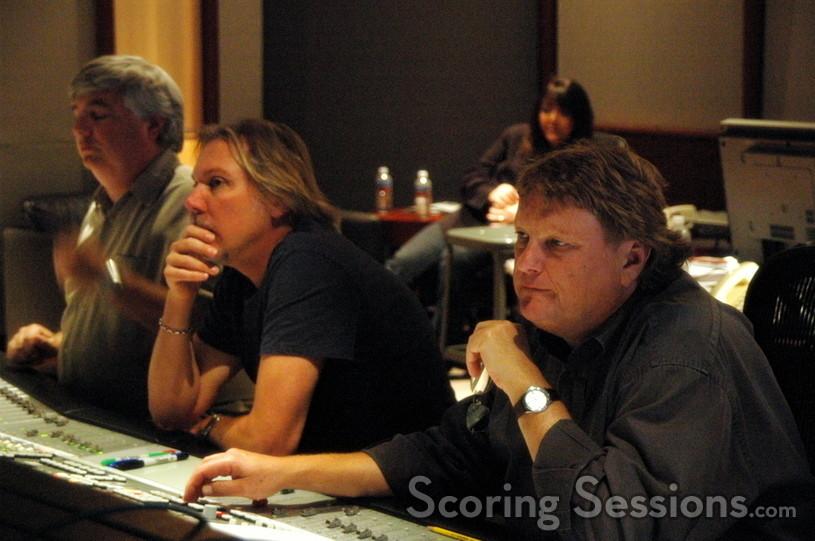 Orchestrator Dave Metzger, composer Mark Mancina and scoring mixer Steve Kempster
