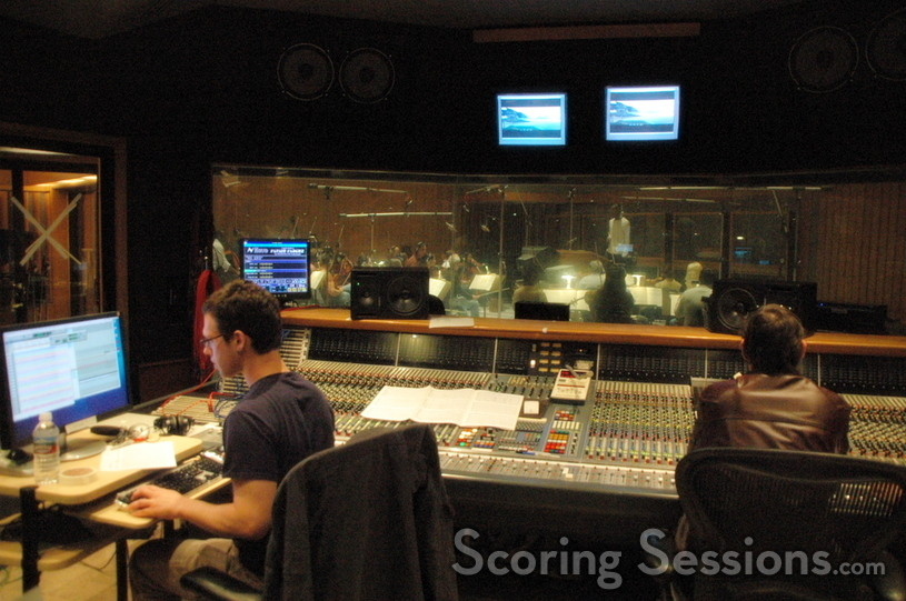 View of the orchestra from the control room