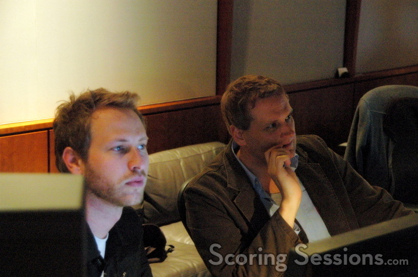 Assistant music editor Joe Bonn and composer John Ottman