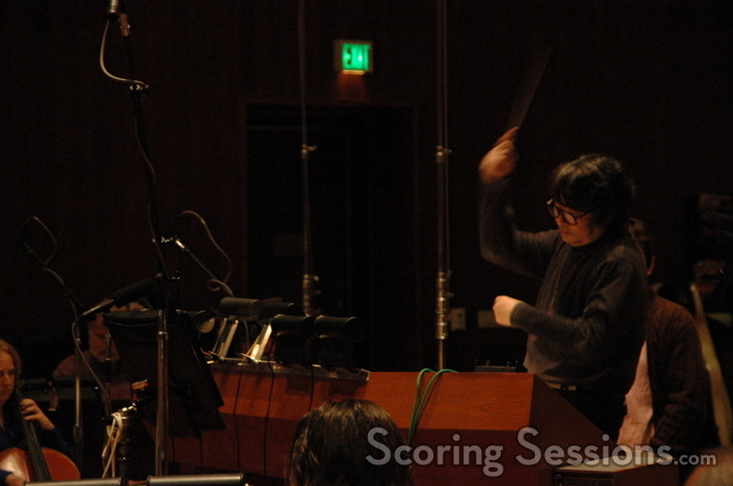 Masamichi Amano conducts at the Eastwood Scoring Stage