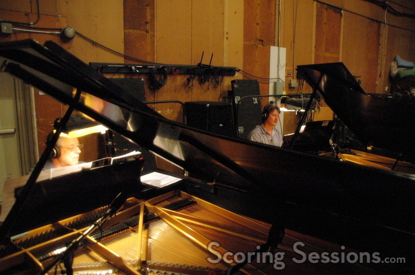 Caption: <i>Rush Hour 3</i> uses two pianos, performed by Mike Lang and Mike Watts