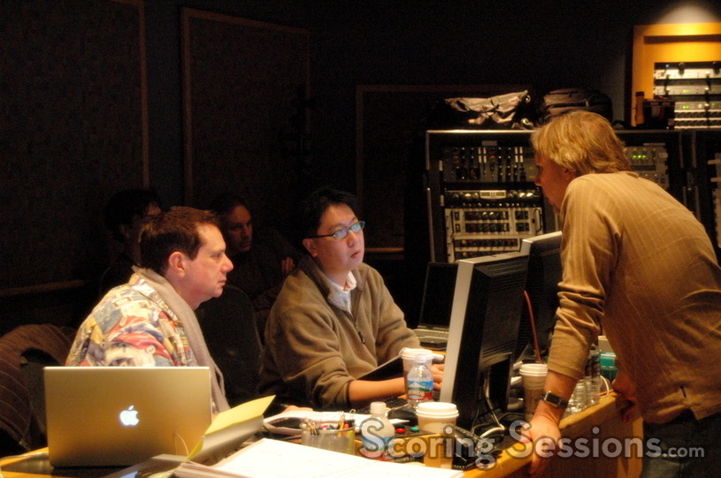 Music Editor Mike Flicker, Technical Consultant Chuck Choi and Composer Mark Mancina