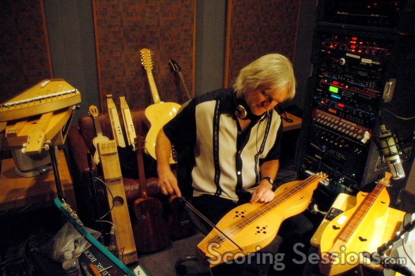George Doering surrounded by his many instruments