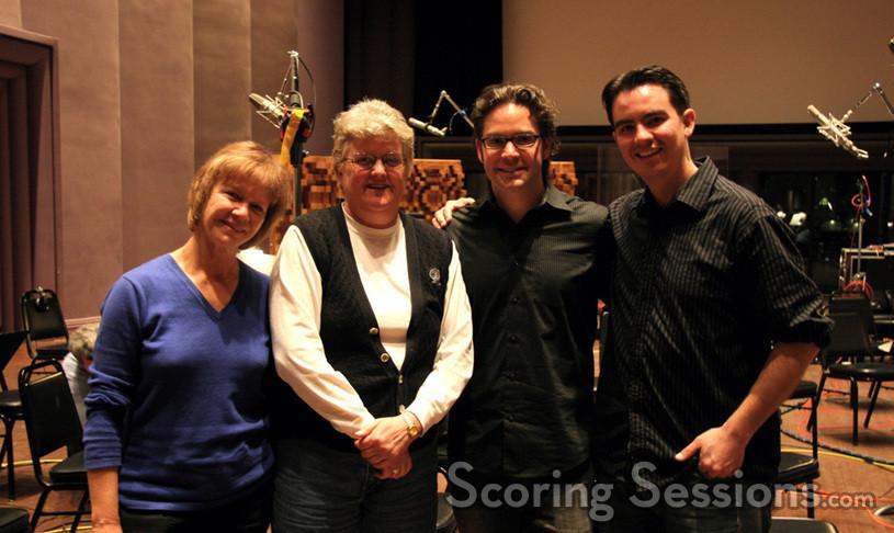 Contractor Janet Ketchum, recording engineer Leslie Ann Jones, composer/conductor Ryan Shore and director/animator Dan Kanemoto