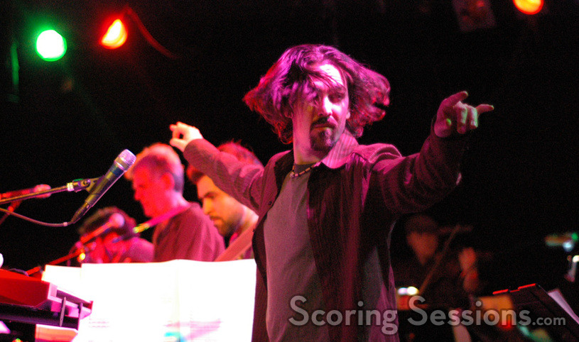 Bear McCreary was unrestrained while conducting the band.