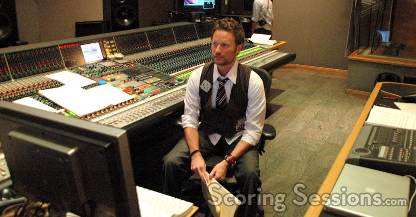 Brian Tyler at in the control room at Sony