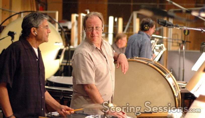 Percussionists Bob Zimmitti and Alan Estes