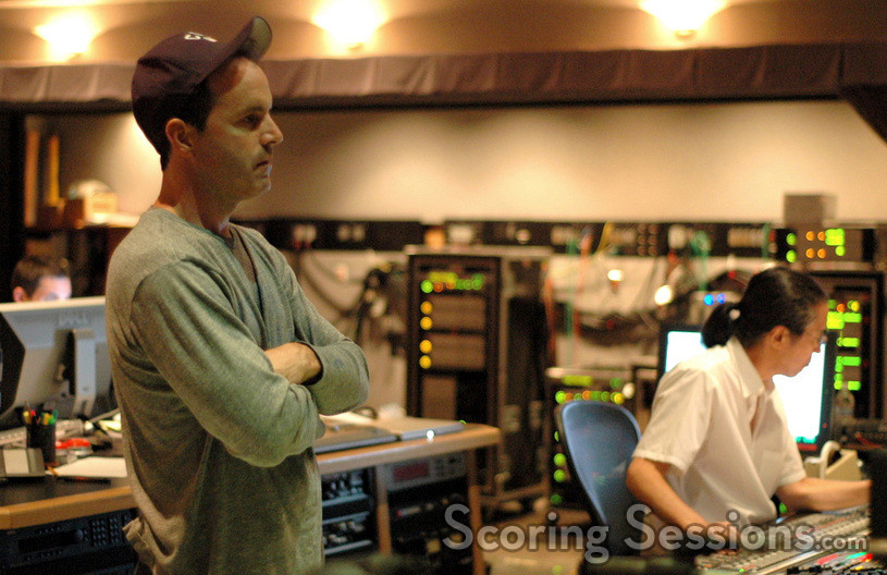 Director D.J. Caruso and scoring mixer Joel Iwataki