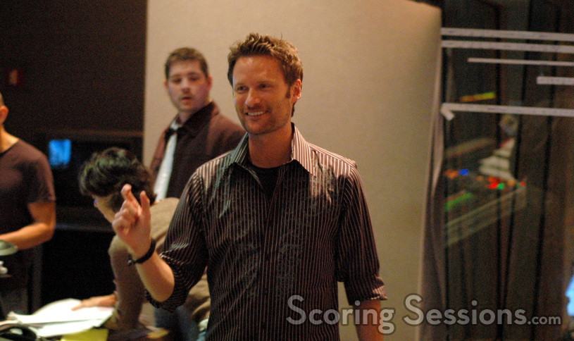 Composer Brian Tyler and contactor Jasper Randall (rear)