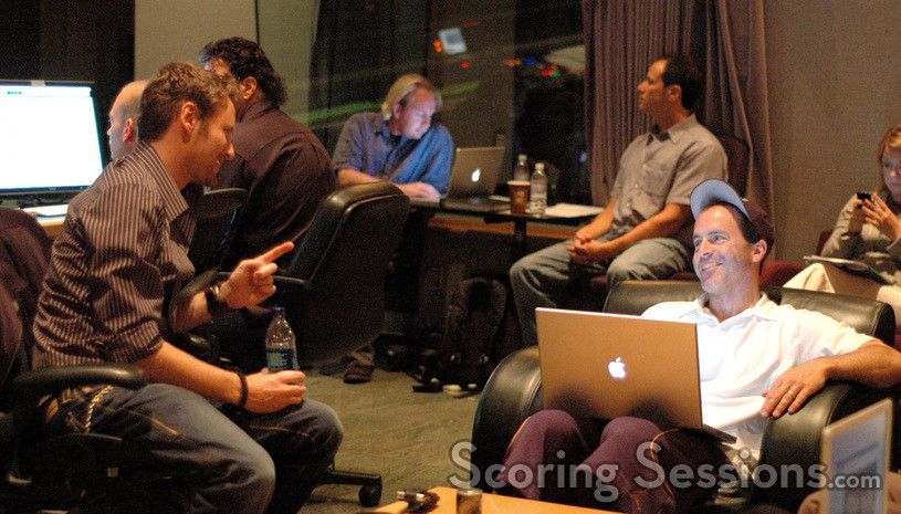 Composer Brian Tyler talks with director D.J. Caruso