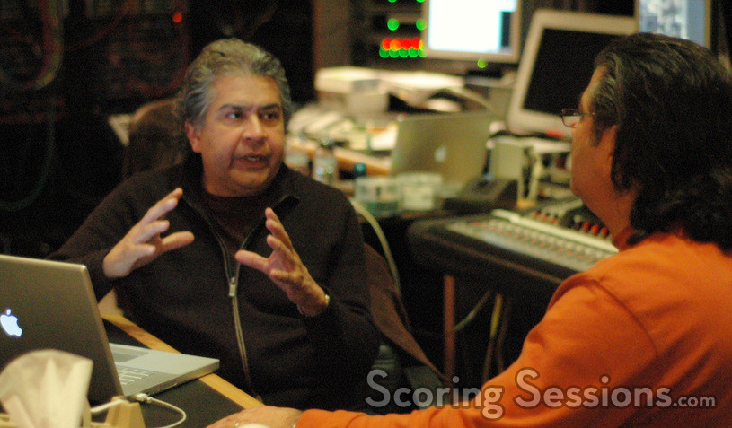 Scoring mixer Bobby Fernandez and Evyen Klean