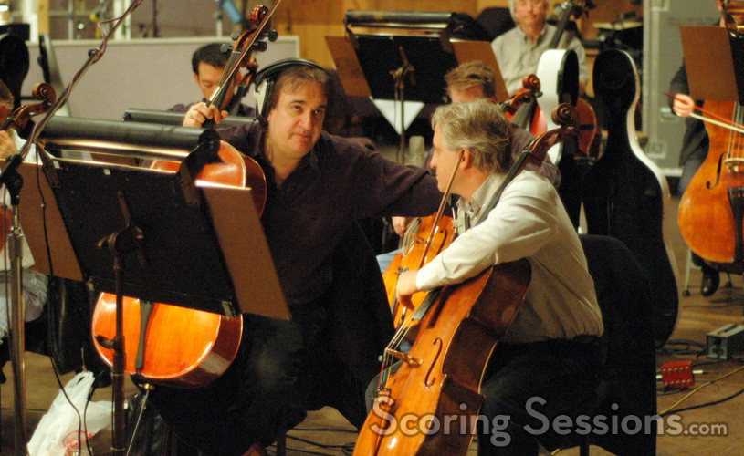 Cellists Andrew Shulman and contractor David Low