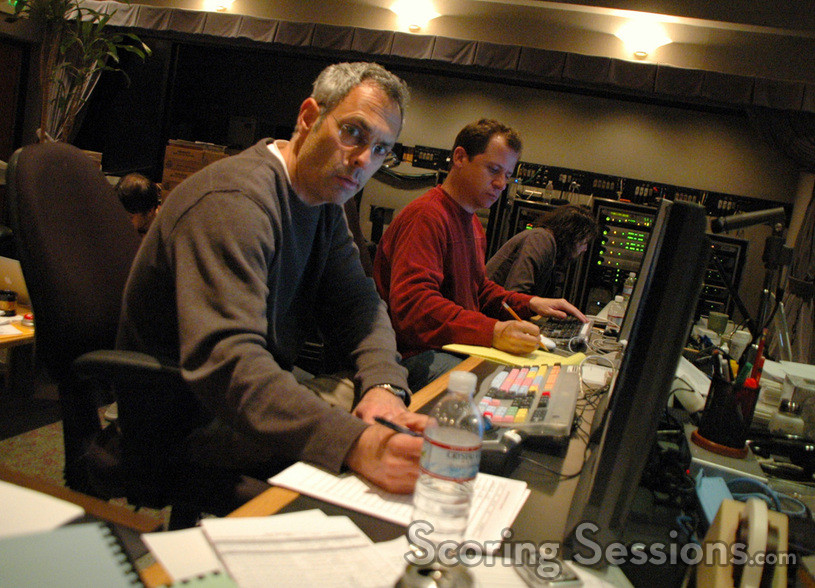 Music editor Dominic Certo and ProTools Recordist Kevin Globerman