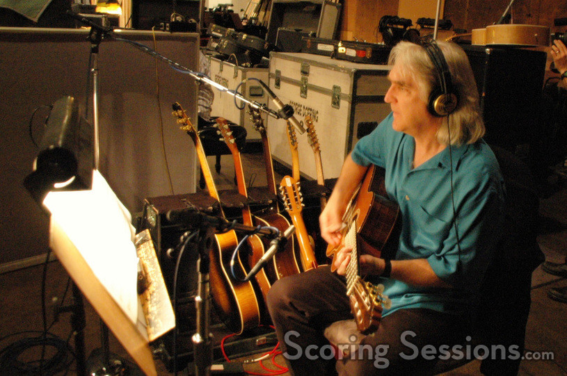Guitarist George Doering in the big band rhythm section