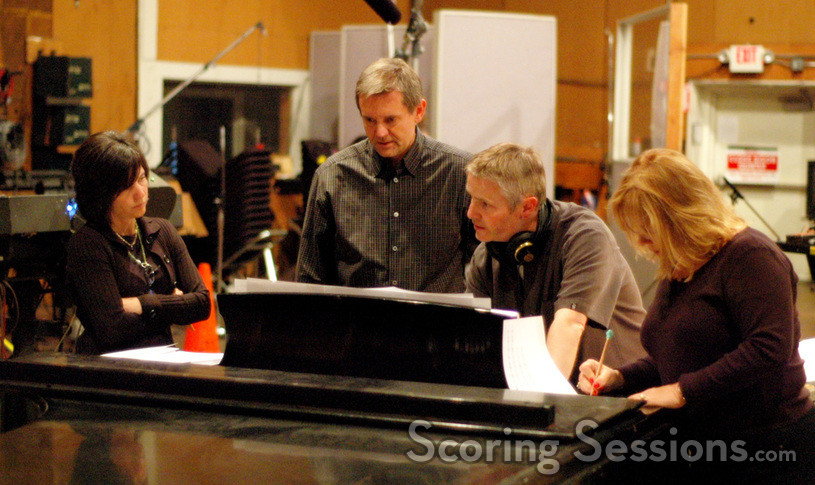 Director Peggy Holmes, Disney exec Matt Walker, conductor Blake Neely and vocal contractor Bobbi Page