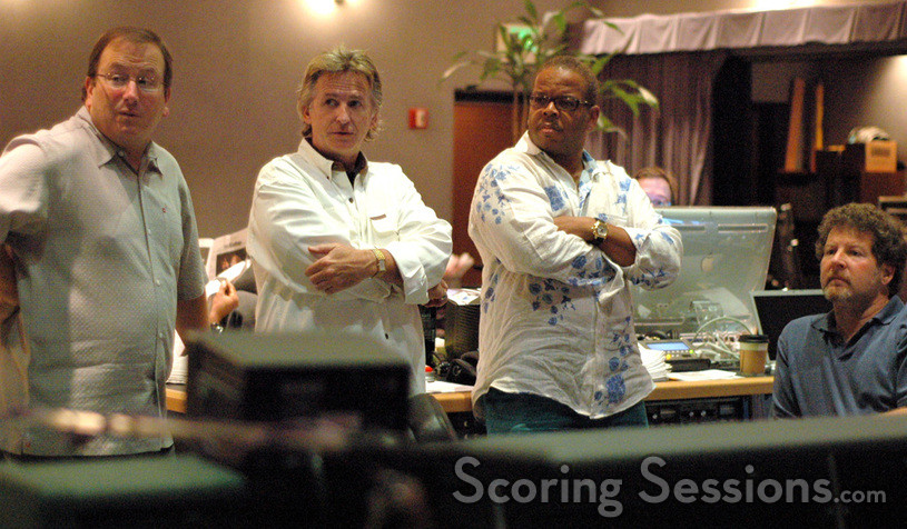 Contractor Peter Rotter, concertmaster Bruce Dukov, composer Terence Blanchard and scoring mixer Frank Wolf