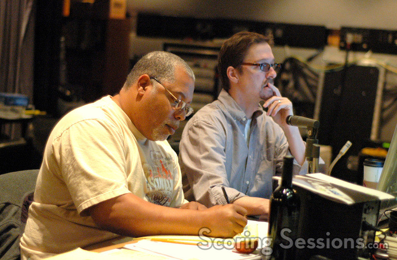 Music editor Marvin Morris and orchestrator Howard Drossin