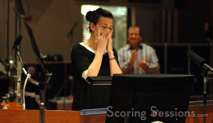 Jeanine Tesori gets emotional when thanking the orchestra