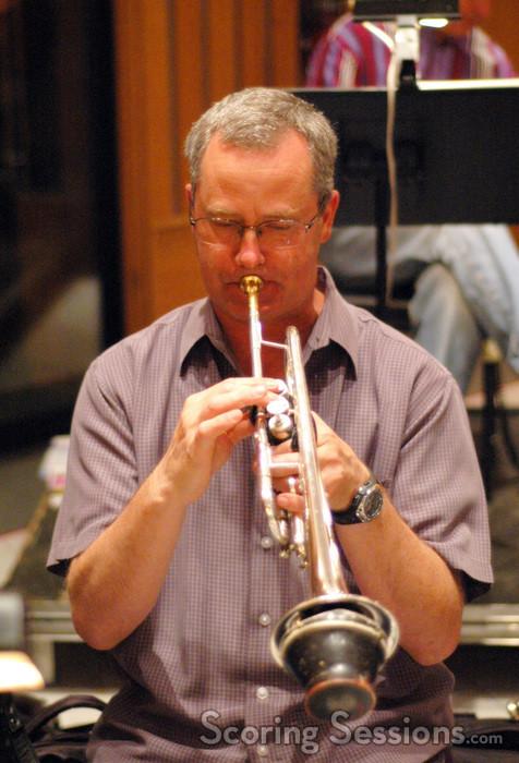 Jon Lewis plays trumpet