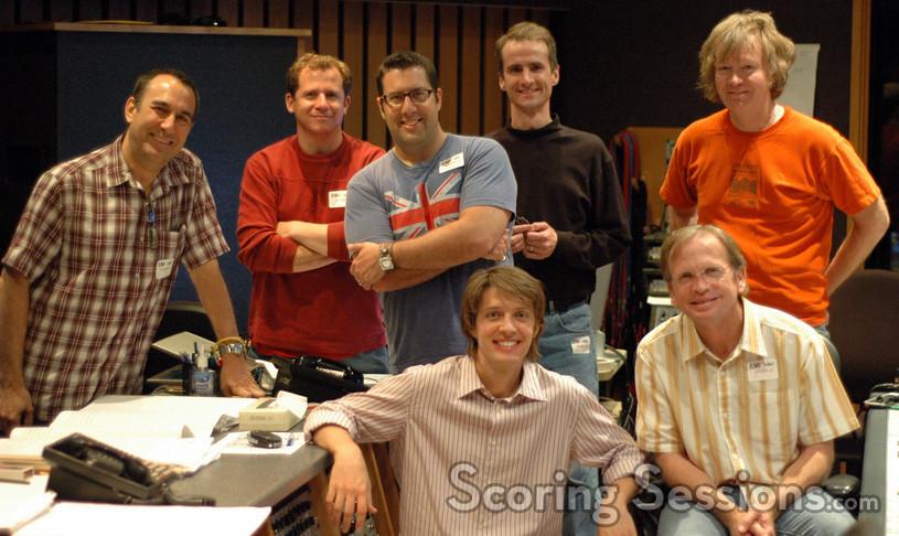 First Artists Management agent Randy Gerston, Kevin Globerman, Christopher Lennertz, Andrew Kinney, Charlie Pakaari, Philip White and Jeff Vaughn