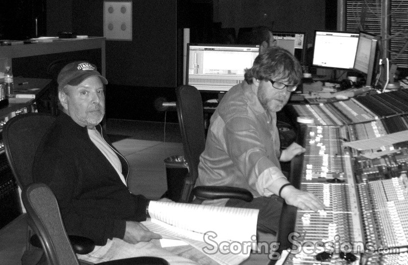 Composer Mark Snow and scoring mixer Alan Meyerson