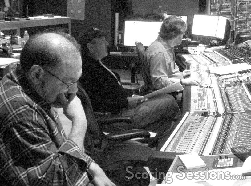 Orchestrator Jonathan Sacks, composer Mark Snow and scoring mixer Alan Meyerson