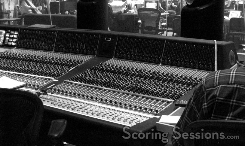 The mixing console at the Newman Scoring Stage at Fox