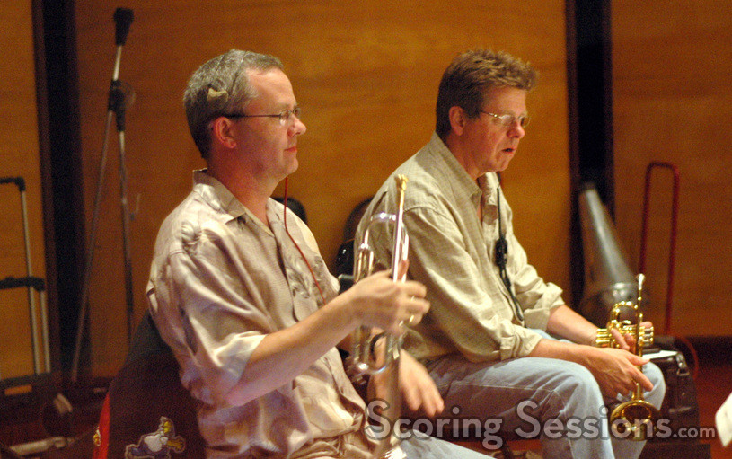Trumpet players Jon Lewis and Wayne Bergeron