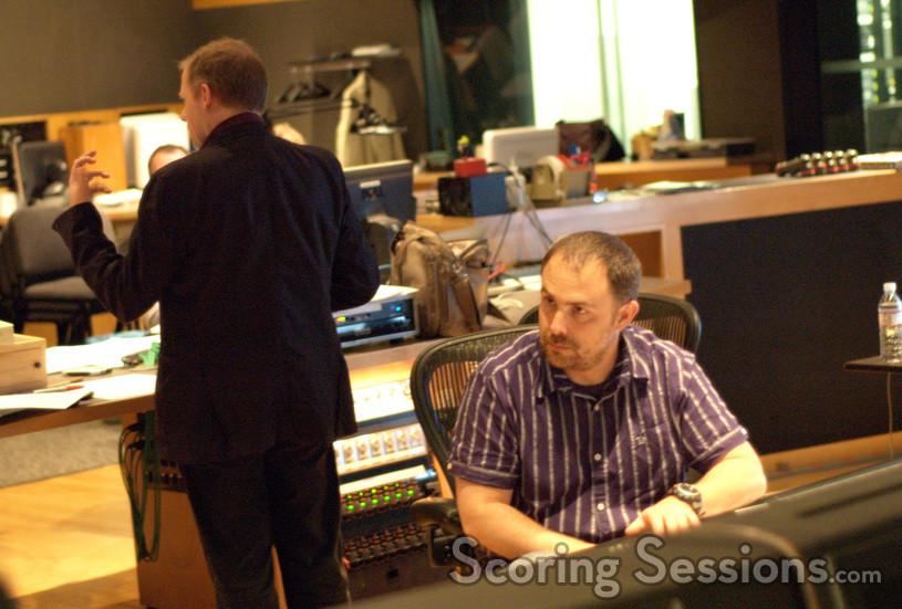 Composer Ed Shearmur and scoring mixer Chris Fogel