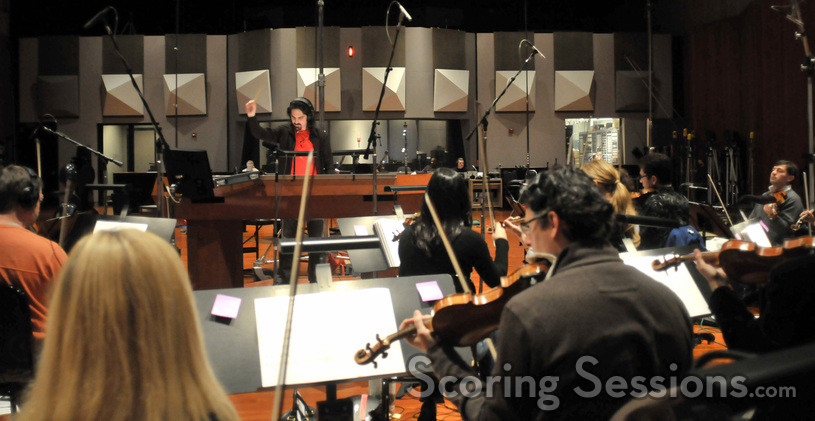 Bear McCreary conducts the string section