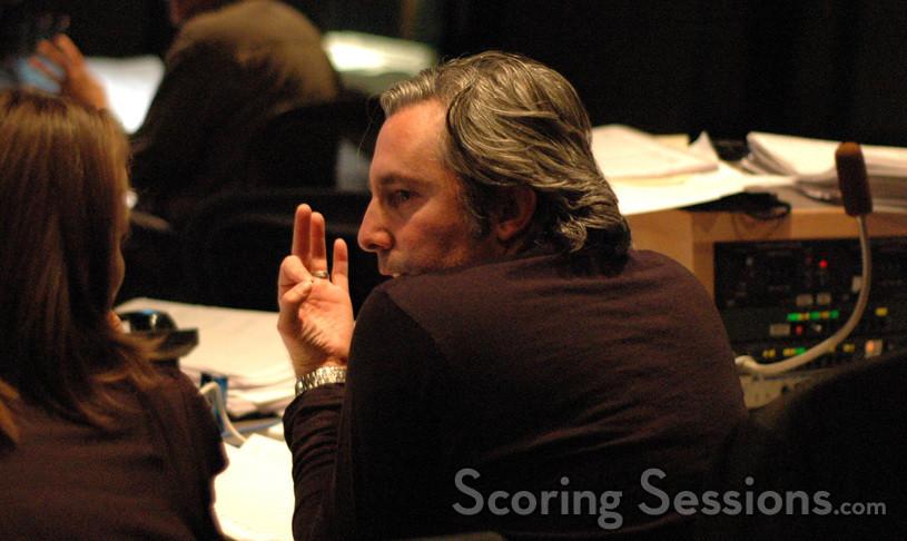 Music editor Amanda Goodpaster talks with director Paul Weitz