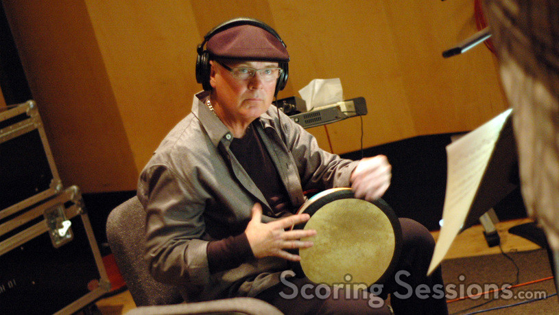 Mike Fischer plays percussion