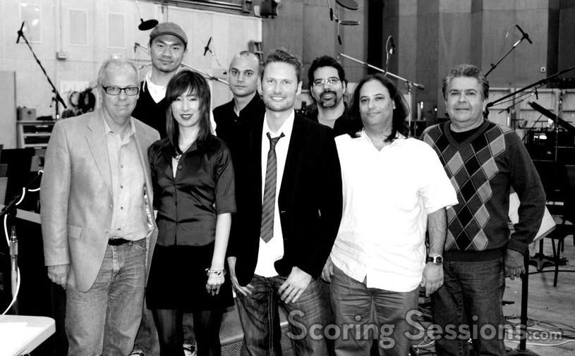 The music team: Brad Warnaar, Pakk Hui, Dana Niu, Joe Lisanti, Brian Tyler, Gary Krause, Robert Elhai and Bobbie Fernandez