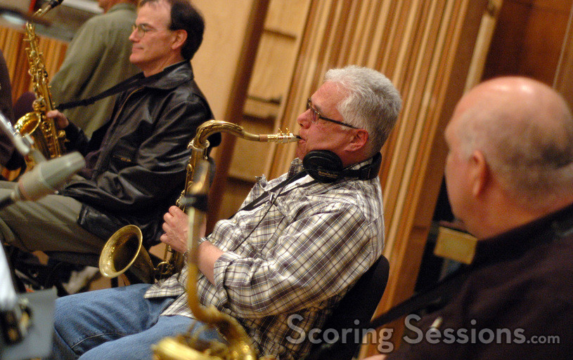 Saxophonists (l to r): Dan Higgins, Joel Peskin, and Greg Huckins.