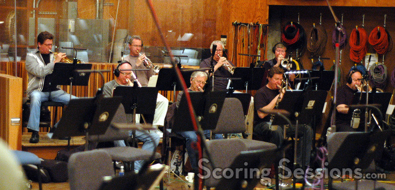 Trumpet players Wayne Bergeron, Jon Lewis, Malcolm McNab and Warren Luening; Trombone player Alex Iles, Charlie Loper, Steve Holtman and Phil Teele