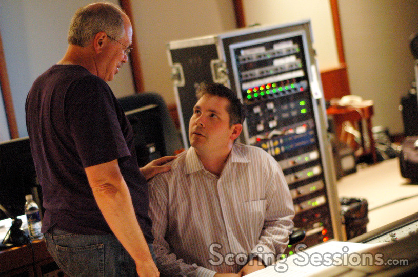 Scoring mixer Dennis Sands and composer Jasper Randall