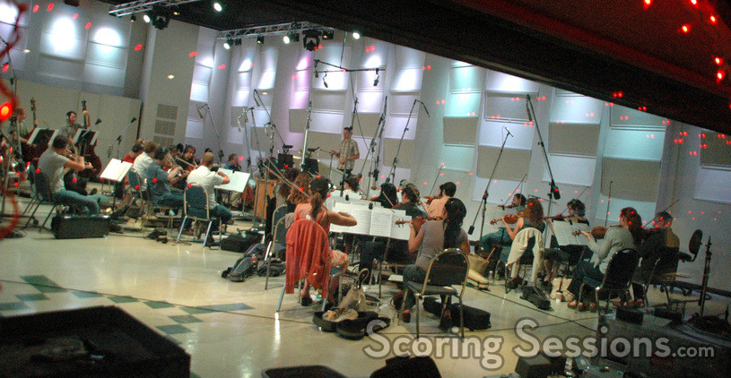Tim Davies conducts a sting and woodwind ensemble of the Hollywood Studio Symphony