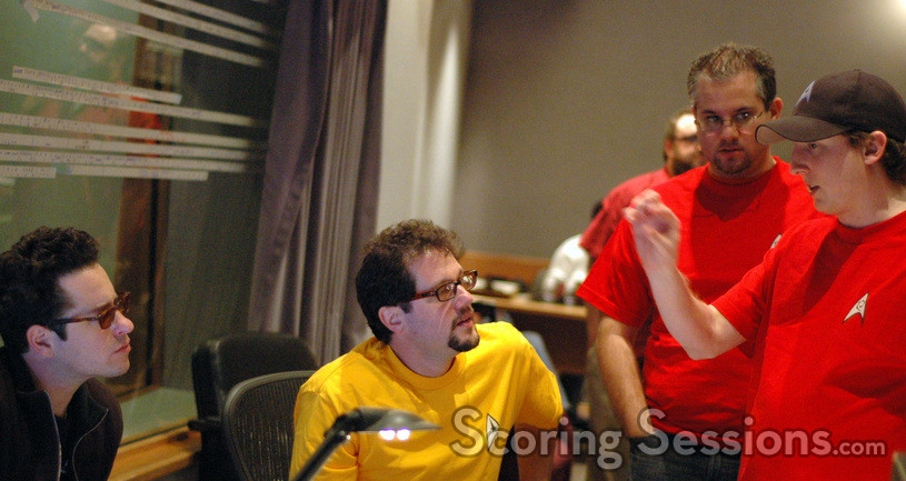 Director J.J. Abrams, composer Michael Giacchino, and orchestrators Chris Tilton and Chad Seiter