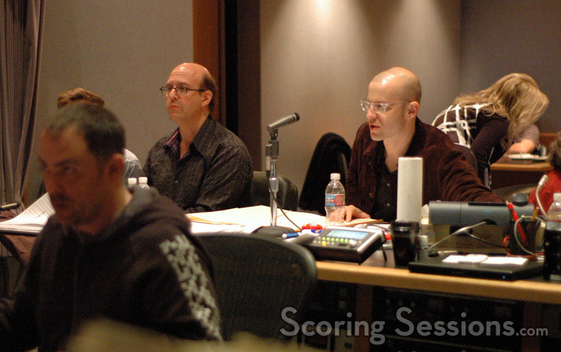 Scoring mixer Chris Fogel, orchestrator Randy Kerber and composer Theodore Shapiro