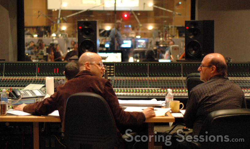 Composer Theodore Shapiro talks with orchestrator Randy Kerber