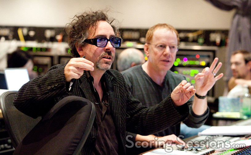 Director Tim Burton and composer Danny Elfman